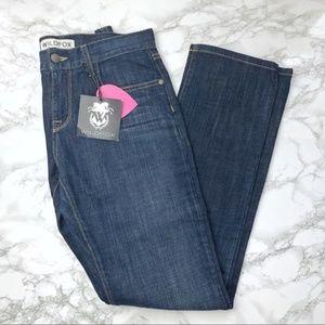 wildfox // straight leg boyfriend dark wash jeans